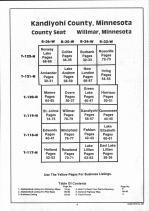 Table of Contents, Kandiyohi County 1991